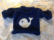 Sweater Navy Blue Whale